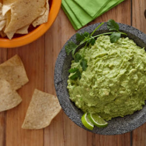 Parsnip chips with Avocado and Spinach Dip