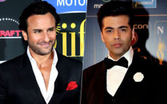 saif ali khan with karan johar at IIFA
