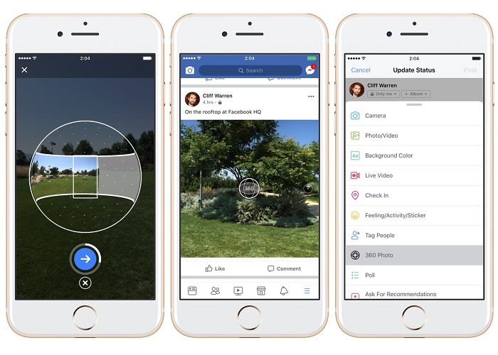 Facebook: Now Capture 360-Degree Photos with your Fb App ...
