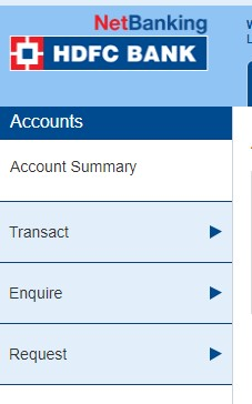 HDFC Account options