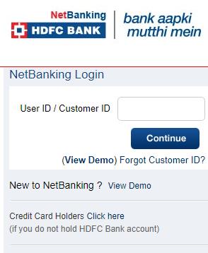 HDFC login